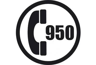 prefijo 950