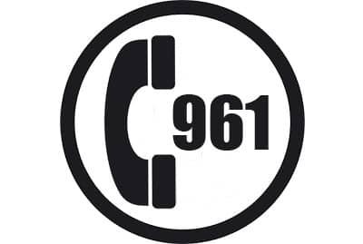 prefijo 961