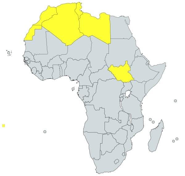 prefijo 21 en África