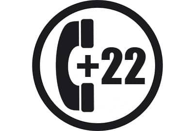 prefijo +22